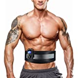 DOMAS Ab Belt Abdominal Muscle Toner- Abs Stimulator with 8 Modes Electronic Abs Stimulating Belt EMS Muscle Toning Belt for