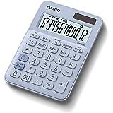 カシオ カラフル電卓 ペールブルー 12桁 ミニジャストタイプ MW-C20C-LB-N