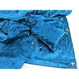 RELIGHT タロットクロス ベルベット 大判 タロットカード ポーチ ステッカー 無地 青 星リベット付き 3点セット sp-49 (65cm×65cm) (ブルー)