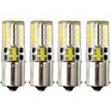 Led BA15s Bulb 12V AC/DC 1156 1141 S8 Single Contact Base, Waterproof Lamp, 5 Watt Cool White 6000K 500LM for Boat, RV, Auto