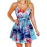Lantina Women's Summer Plus Size Sexy Dress