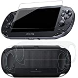 SNNC PlayStation Vita 1000 Screen Protector Anti-Scratch Tempered Glass Film Shield Games Console Joy Con Accessories Case Fo