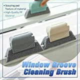 3pcs Creative Groove Cleaning Brush, Magic Window Door Track Cleaning Brush Gap Groove Sliding Tools Dust Cleaner Kitchen, Qu