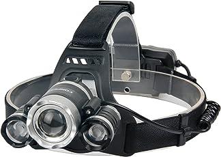 CONPEST LED ヘッドライト ヘッドランプ 明るさ1800ルーメン ボディーセンサー&ズーム機能 高輝度 4点灯モード USB充電式 IPX6防水レベル 18650リチウム電池付き