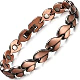 RainSo Women Pure Copper Magnetic Therapy Health Bracelets Pain Relief For Arthritis Adjustable with Gift Box