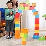 ぼん家具 ブロック おもちゃ 88ピースセット 大きい 知育 こども用 パズル カラーブロック ビッグ
