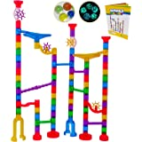 Marble Run Track Toy Set - Translucent Marble Maze Race Game Set by Marble Galaxy - Fun Educational STEM Building Constructio
