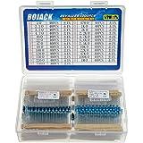 BOJACK 1000 Pcs 25 Values Resistor Kit 1 Ohm-1M Ohm with 1% 1/2W Metal Film Resistors Assortment