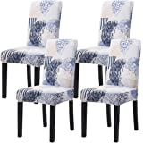 Mecerock Fit Stretch Jacquard Removable Washable Short Dining Chair Covers Seat Slipcover for Hotel,Dining Room,Ceremony,Banq