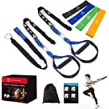 FITINDEX Bodyweight Resistance Trainer Kit, Home Training Straps, Fitness Resistance Trainer with Anchor Point and Resistance