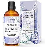 ASAKUKI Lavender Essential Oil 100mL, 100% Pure Natural Therapeutic Grade Aromatherapy Oil for Skin Care, Hair Care, Bath, Id