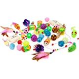 Friends Forever Kitten Toys Variety Pack - Cat Toys Set Including Cat Fishing Pole, Catnip Pillow & Lot More, Cute Kitty Toys