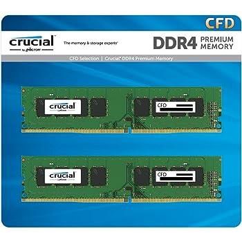 CFD販売 デスクトップPC用メモリ PC4-19200(DDR4-2400) 4GBx2枚 288pin (無期限保証)(Crucial by Micron) W4U2400CM-4G