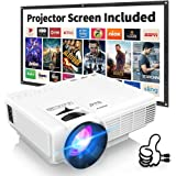 """[Latest Upgrade] 4500Lumens Mini Projector, Full HD 1080P 170"""" Display Supported, PS4,TV Stick, Smartphone, USB, SD Card Supp"""