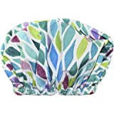 Betty Dain Trendy Turban Comfort Fit Shower Cap, Aqua Stones