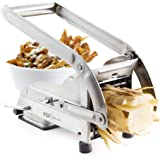 AirFry Mate, Stainless Steel French Fry Cutter, Commercial Grade Vegetable and Potato Slicer, Includes Two Blade Size Cutter