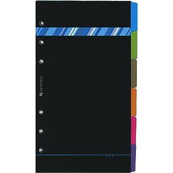 バイブルシステム手帳リフィルインデックス 【ブラック+ストライプ】 DX6-B6-01