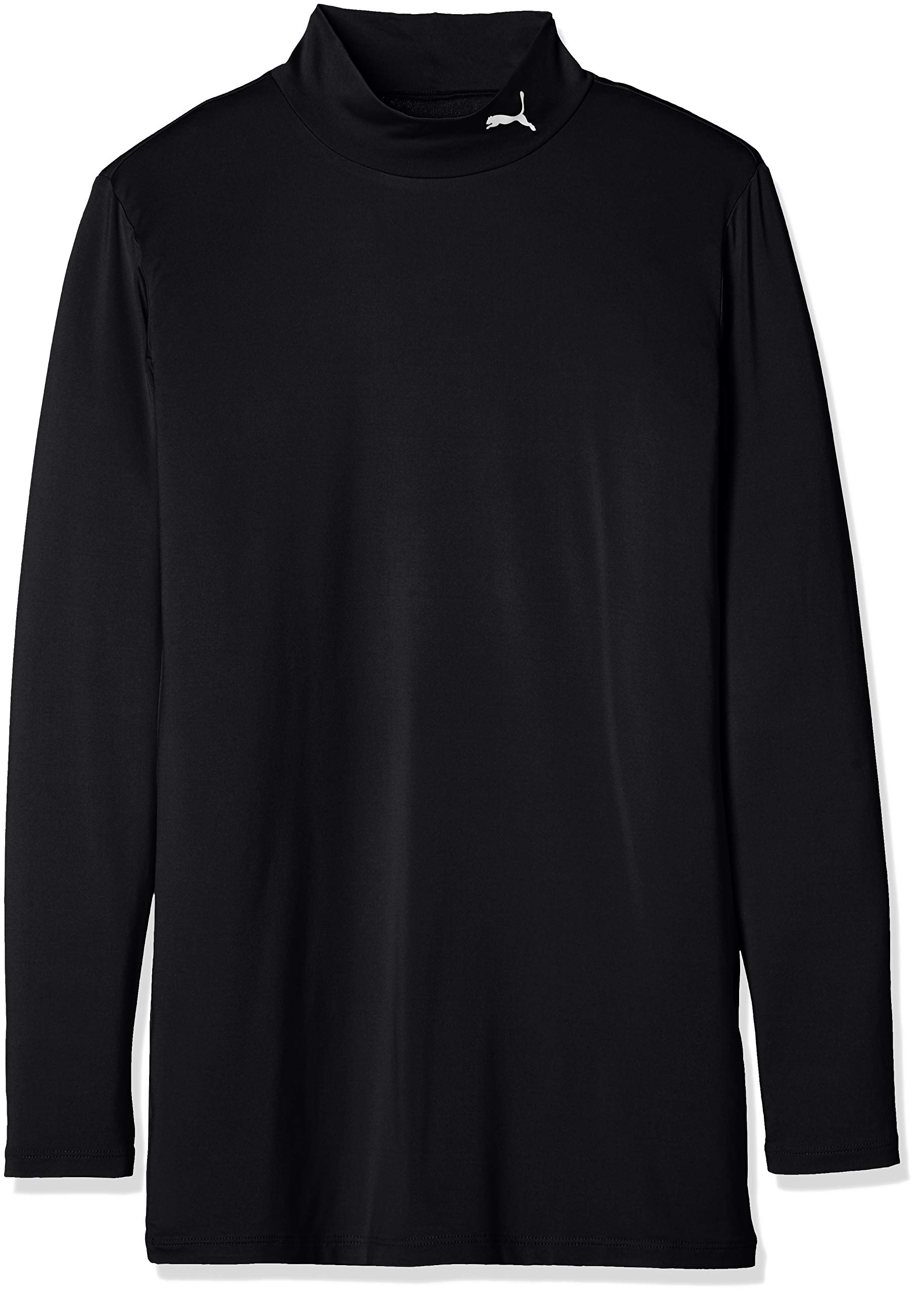 PUMA プーマ サッカー ジュニア長袖インナーシャツ コンプレッション ジュニア モックネック LS 65633203 ボーイズ プーマ ブラック/プーマ ホワイト