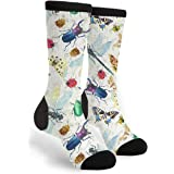 TyQii Socks Insect Species Novelty Socks For Women & Men Gifts, Black and White, One Size