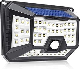 66LED ソーラーライト 屋外 QWOO 人感センサーライト ガーデンライト 三つモード 防水 高輝度 太陽光発電 省エネ 270度広角 屋外照明/玄関/軒先/駐車場/庭先周りなどに対応 防犯ライト 最新版