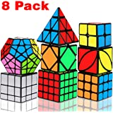 Speed Cube Set, Libay Magic Cube Bundle 2x2 3x3 4x4 Pyramid Megaminx Skew Mirror Ivy Sticker Cube Puzzle Collection - Toy Puz