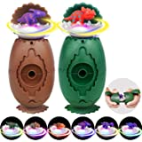 Dinosaur Toys, Dinosaur Surprise Eggs with 6 Different Dinosaurs, LED Light Up Flashing Dinosaur Spinning Tops, for Kids, Boy