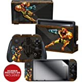 "Controller Gear Officially Licensed Nintendo Switch Skin & Screen Protector Set - Metroid - ""Samus"" - Nintendo Switch"