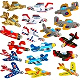 Neliblu Airplane Gliders for Kids Bulk Pack of 72 Individually Wrapped Flying Plane Toys - Lightweight Foam Air Planes W Vari