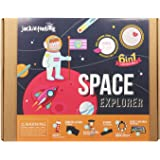 jackinthebox Space Educational Stem Toy | Includes 6 Fun Projects That Range from Arts and Crafts to Science | Ideal Space Gi