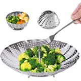 Steamer Basket Stainless Steel Instant Pot Accessories for Food and Vegetable, Zocy Premium Expandable Steam Basket to Fit Va