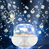 NEEWERS Night Light for Kids, 360 Rotatable Multicolor Changing LED Rechargeable Kids Night Light Projector Lamp for Baby and