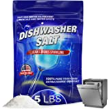 5 LB Dishwasher Salt Water Softener, Made in USA Recommended for Bosche, Miele, Thermador, Whirlpool and More