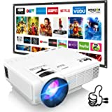 DR. J Professional HI-04 Mini Projector Outdoor Movie Projector with 100Inch Projector Screen, 1080P Supported Compatible wit