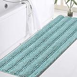 Bathroom Runner Rug Extra Long Chenille Area Rug Set Eggshell Blue Bathroom Kitchen Rug Mat Machine-Washable Bath mats Large
