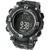 [ラドウェザー]ソーラー腕時計 メンズ時計 デジタルウォッチ ミリタリー 100m防水 サバゲ― ストップウォッチ (カ…