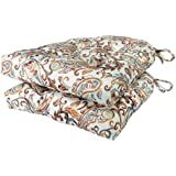 Arlee - Paisley Pad Seat Cushion, Memory Foam, Full-Length Ties for Non-Slip Support, Durable, Superior Comfort and Softness,