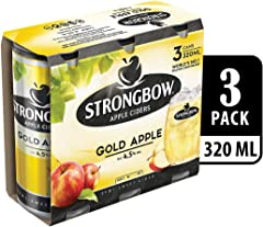 Strongbow Apple Cider Gold Apple Can, 3 x 320ml
