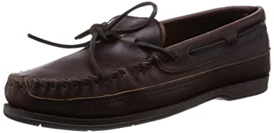 Minnetonka Double Bottom Hardsole: 768 Dark Brown Lariat