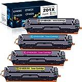 Compatible CF400X CF401X CF402X CF403X 201X Toner Cartridges for HP Color Laserjet Pro M252 M277 M252dw M277n M277dw M252n(4