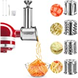 KINGEAGLE Stainless Steel Slicer Shredder Attachment for KitchenAid Mixer, Cheese Grater, Food Slicer for KitchenAid Mixer, A
