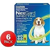 Nexgard NexGard Spectra Flea, Tick & Worm Chews For Dogs 7.6 15kg 6pk