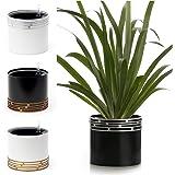 SOW UNIQUE Self Watering Planter Pot for Indoor use.  Australian supplier + Designer   Modern 18.5 cm Solid Aluminum Leak Pro