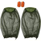 2 Pack Mosquito Repellent Mesh Head Net, T Tersely Face Netting Mask for Bugs, Gnats, No See Ums and Other Insects, Protectio