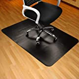 """Black Chair Mat for Hard Wood Floor 35x47"""" Rectangular Thick & Sturdy Multi-Purpose Office Chair Floor Mat for Home & Office"""