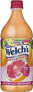 Welch's ピンクグレープフルーツ100 800g×8本入×2ケース 16本