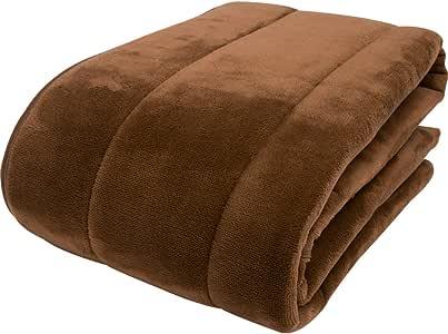 京都西川 敷きパッド カラーフランネル なめらかな肌触り 日本製 洗える ブラウン シングル 100×205cm 2NGC6403S