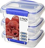 Sistema Klip It 1523 Klip It Pack Food Storage Container, Clear