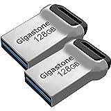 Gigastone Z90 128GB USBメモリ 2個セット USB3.1 メモリスティック 小型 メタリック フラッシュドライブ
