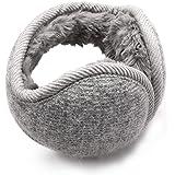 JETEDC(ジェットイデイシイ)防寒耳カバー・イヤーマフ ニット 耳あて メンズ レディース 折りたたみ 調整可能 通…
