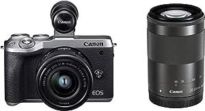 Canon ミラーレスカメラ EOS M6 Mark II (シルバー)・ダブルズームEVFキット
